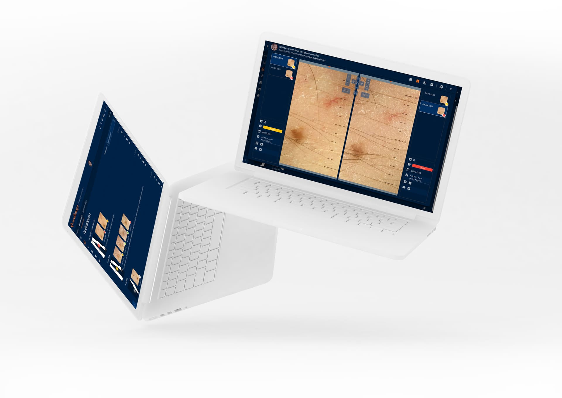 intellimago Vorschau des medizinischen Dashboard zum verwalten von Patientenbildern